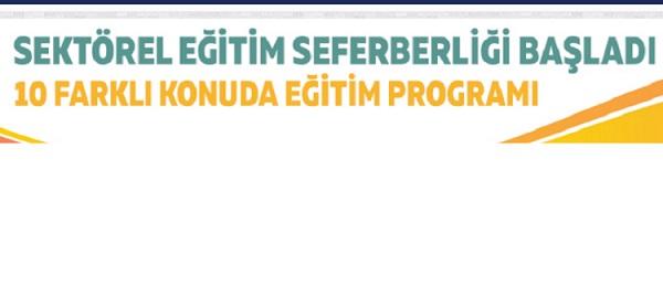 SEKTÖREL EĞİTİM SEFERBERLİĞİ BAŞLADI Türkiye Tohumcular Birliği (TÜRKTOB) 10 farklı konuda eğitim programı düzenliyor.