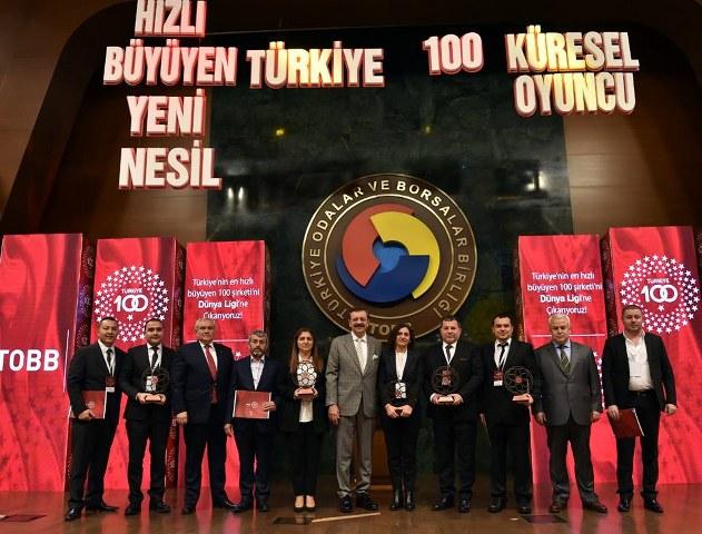 TÜRKİYE'NİN HIZLI BÜYÜYEN 100 Şirketleri arasına girerek 48. sırada yer alanan PETEKTAR Tohum San. ve Tic. Ltd. Şti. sahibi Yönetim Kurulu Üyemiz Sayın Büşra YAPICI 'yı Tebrik ederiz.