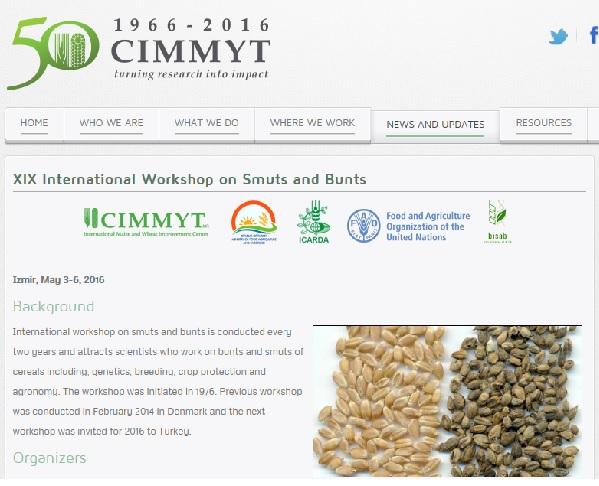 XIX International Workshop on Smuts and Bunts Izmir, May 3-6, 2016